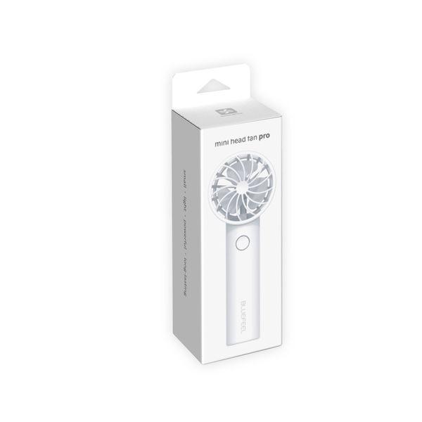 超小型ヘッド ポータブル扇風機 ホワイト