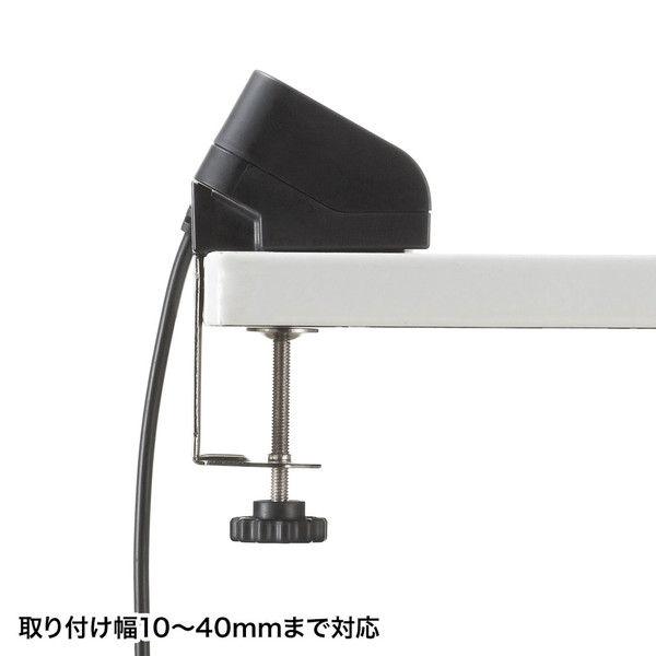 サンワサプライ クランプ式USB充電器(TypeC1ポート+USB3ポート・ブラック) ACA-IP51BK 1個 (直送品)