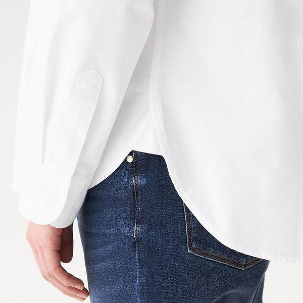 オックススタンドカラーシャツ 婦人 M