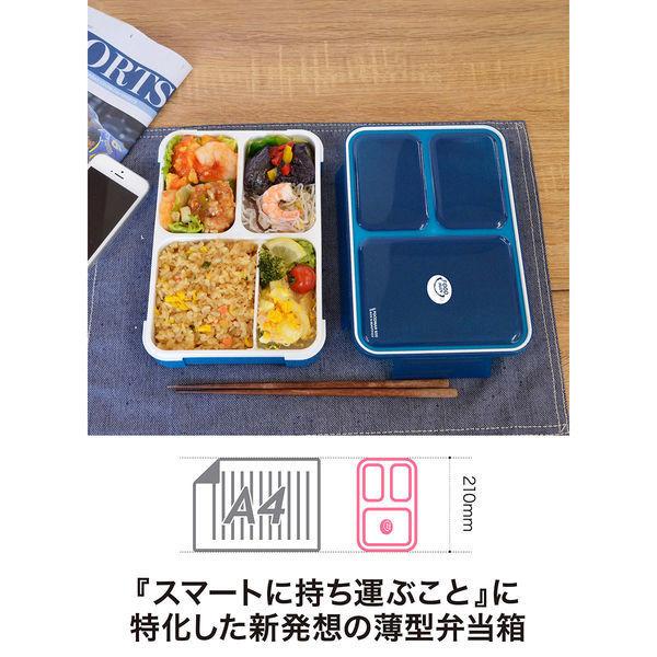 薄型弁当箱フードマンランチセット ピンク