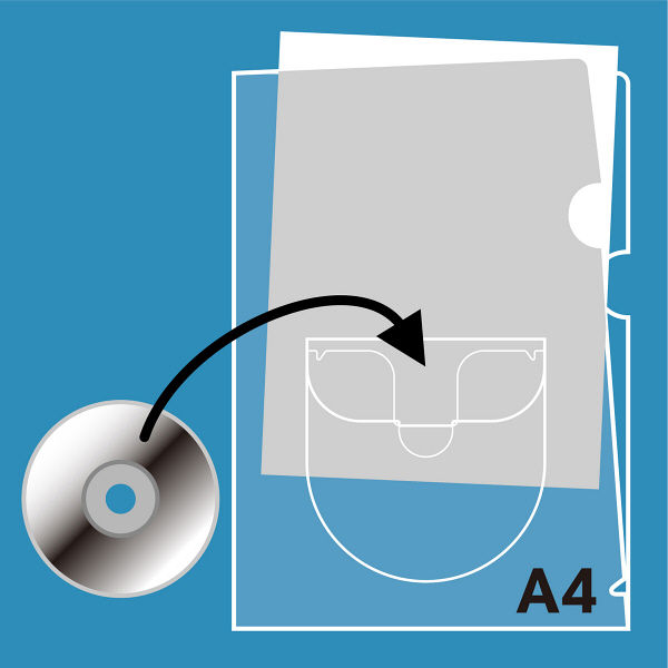 プラス ディスクポケット付ホルダー A4 FL-169HO 1箱(400枚:10枚入×40袋) (直送品)