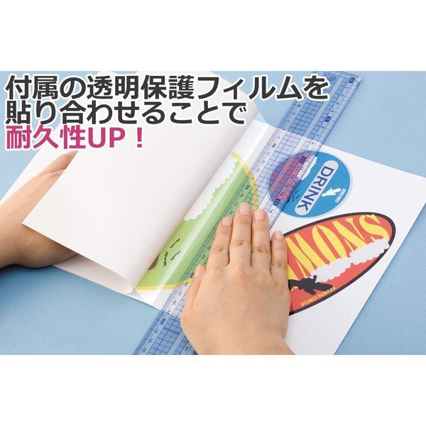エーワン 手作りステッカー[インクジェット]透明タイプ はがき 1面 29423 1袋(2セット入) (取寄品)