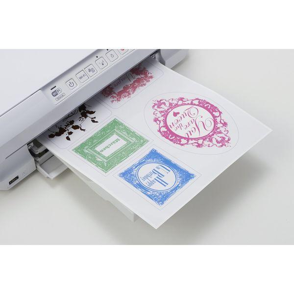 エーワン ラベルシール[レーザープリンタ]光沢フィルム・透明 A4 65面 31584 1袋(10シート入) (取寄品)