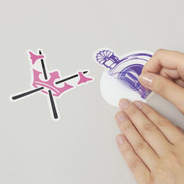 エーワン 自分で作るステッカー 耐水耐光 強粘着 インクジェット 光沢フィルム 透明 はがきサイズ ノーカット1面 1袋(3セット入) 81028(取寄品)