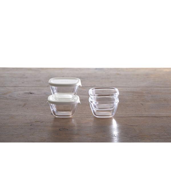 耐熱ミニ角小鉢4個セット ホワイト