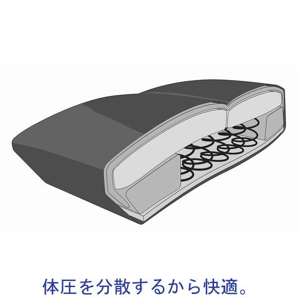 SEKI  レザーポケットコイルチェア2 オフィスチェア ローバック レザー張り ブラック 1脚