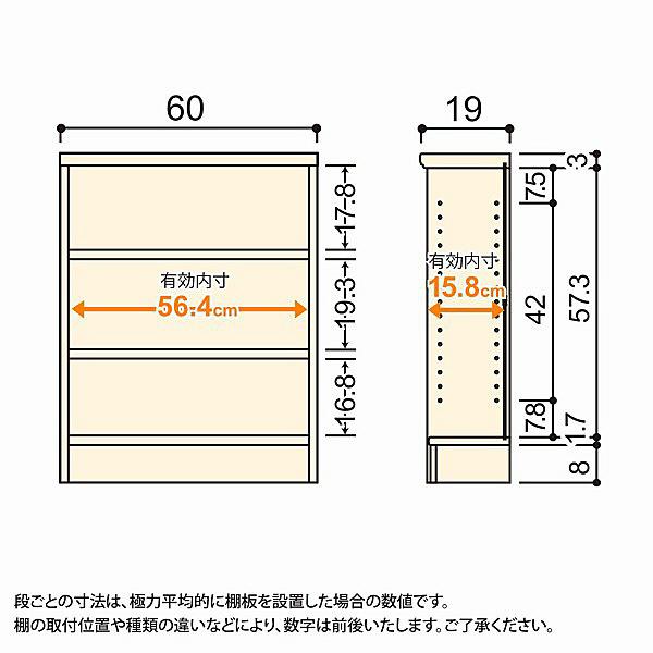 大洋 Shelfit(シェルフィット) エースラック/カラーラックS 幅600×奥行190×高さ700mm ナチュラル 1台 (取寄品)