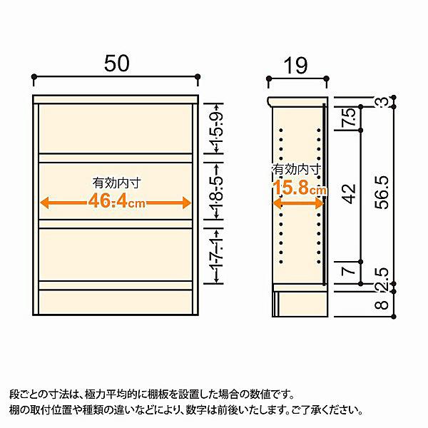 大洋 Shelfit(シェルフィット) エースラック/カラーラックS タフタイプ 幅500×奥行190×高さ700mm ナチュラル 1台 (取寄品)