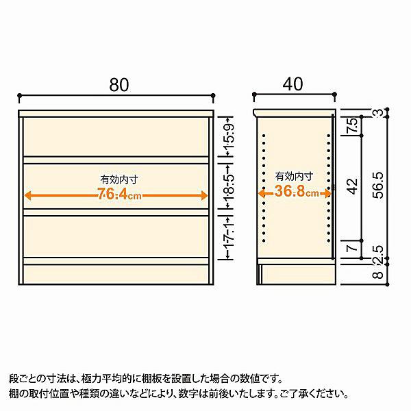 大洋 Shelfit(シェルフィット) エースラック/カラーラックM タフタイプ 幅800×奥行400×高さ700mm ナチュラル 1台 (取寄品)