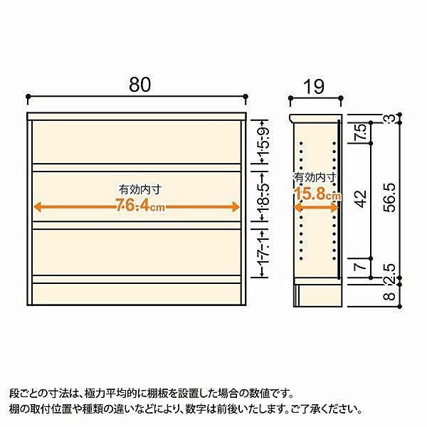 大洋 Shelfit(シェルフィット) エースラック/カラーラックS タフタイプ 幅800×奥行190×高さ700mm ナチュラル 1台 (取寄品)