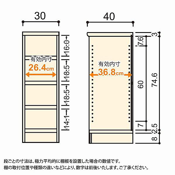 大洋 Shelfit(シェルフィット) エースラック/カラーラックM タフタイプ 幅300×奥行400×高さ881mm ナチュラル 1台 (取寄品)