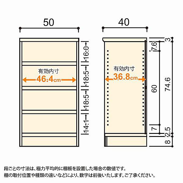 大洋 Shelfit(シェルフィット) エースラック/カラーラックM タフタイプ 幅500×奥行400×高さ881mm ナチュラル 1台 (取寄品)