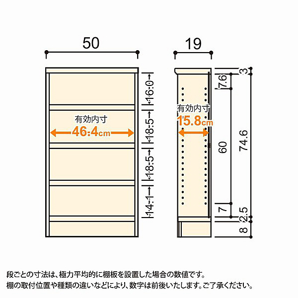 大洋 Shelfit(シェルフィット) エースラック/カラーラックS タフタイプ 幅500×奥行190×高さ900mm ナチュラル 1台 (取寄品)