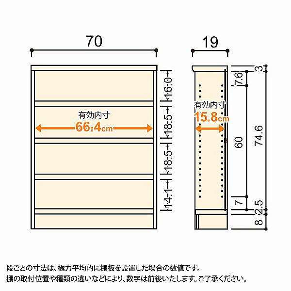 大洋 Shelfit(シェルフィット) エースラック/カラーラックS タフタイプ 幅700×奥行190×高さ900mm ナチュラル 1台 (取寄品)