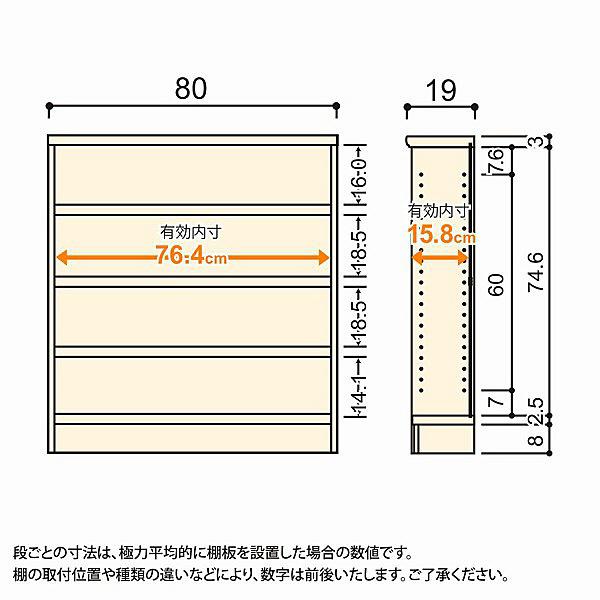 大洋 Shelfit(シェルフィット) エースラック/カラーラックS タフタイプ 幅800×奥行190×高さ900mm ナチュラル 1台 (取寄品)