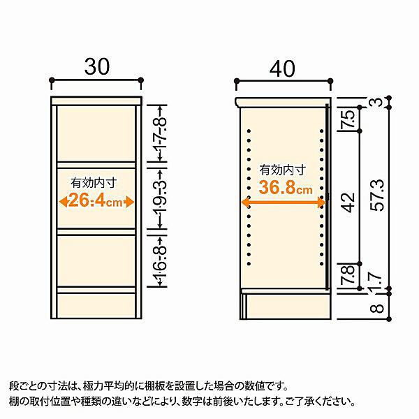 大洋 Shelfit(シェルフィット) エースラック/カラーラックM 幅300×奥行400×高さ700mm ホワイト 1台 (取寄品)