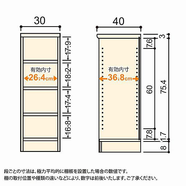 大洋 Shelfit(シェルフィット) エースラック/カラーラックM 幅300×奥行400×高さ881mm ダークブラウン 1台 (取寄品)