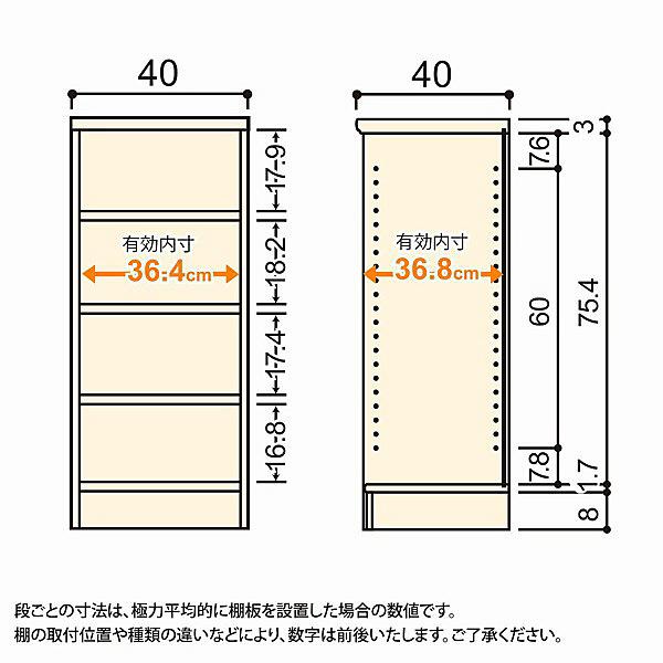 大洋 Shelfit(シェルフィット) エースラック/カラーラックM 幅400×奥行400×高さ881mm ダークブラウン 1台 (取寄品)