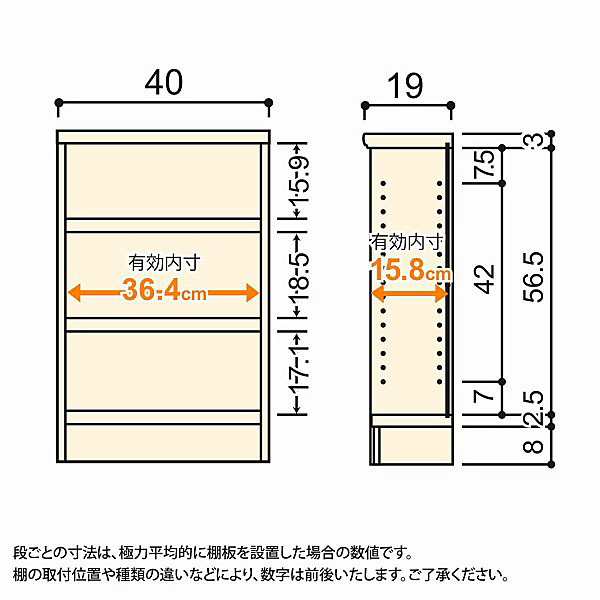 大洋 Shelfit(シェルフィット) エースラック/カラーラックS タフタイプ 幅400×奥行190×高さ700mm ホワイト 1台 (取寄品)