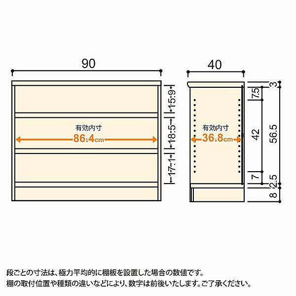 大洋 Shelfit(シェルフィット) エースラック/カラーラックM タフタイプ 幅900×奥行400×高さ700mm ホワイト 1台 (取寄品)