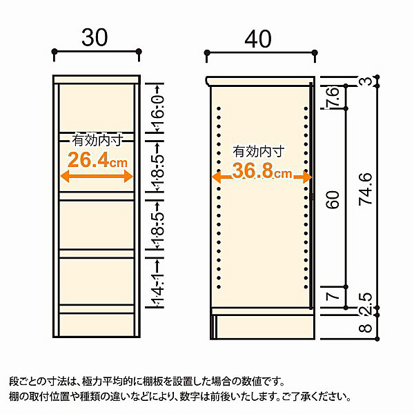 大洋 Shelfit(シェルフィット) エースラック/カラーラックM タフタイプ 幅300×奥行400×高さ881mm ホワイト 1台 (取寄品)