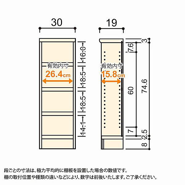 大洋 Shelfit(シェルフィット) エースラック/カラーラックS タフタイプ 幅300×奥行190×高さ900mm ダークブラウン 1台 (取寄品)