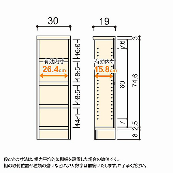 大洋 Shelfit(シェルフィット) エースラック/カラーラックS タフタイプ 幅300×奥行190×高さ900mm ライトナチュラル 1台 (取寄品)
