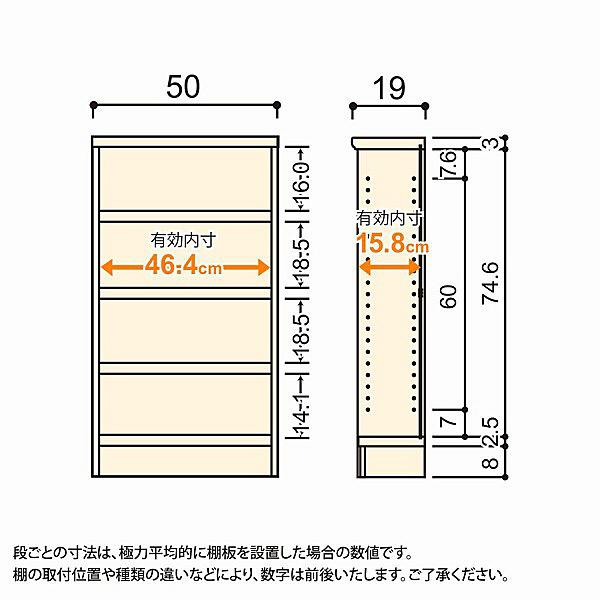 大洋 Shelfit(シェルフィット) エースラック/カラーラックS タフタイプ 幅500×奥行190×高さ900mm ライトナチュラル 1台 (取寄品)