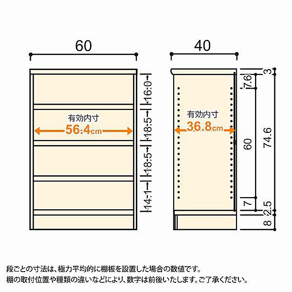 大洋 Shelfit(シェルフィット) エースラック/カラーラックM タフタイプ 幅600×奥行400×高さ881mm ライトナチュラル 1台 (取寄品)
