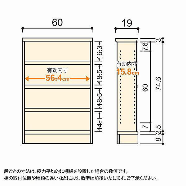 大洋 Shelfit(シェルフィット) エースラック/カラーラックS タフタイプ 幅600×奥行190×高さ900mm ライトナチュラル 1台 (取寄品)