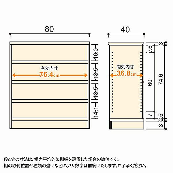 大洋 Shelfit(シェルフィット) エースラック/カラーラックM タフタイプ 幅800×奥行400×高さ881mm ライトナチュラル 1台 (取寄品)