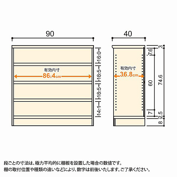 大洋 Shelfit(シェルフィット) エースラック/カラーラックM タフタイプ 幅900×奥行400×高さ881mm ホワイト 1台 (取寄品)