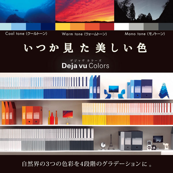 差替式クリアーファイル 橙3冊(取寄品)