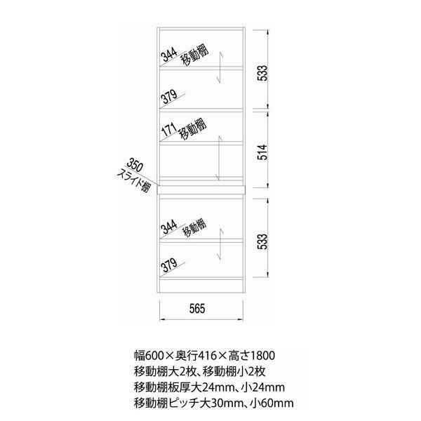 白井産業 壁面収納キャビネット Cタイプ 幅600mm ブラウン (直送品)