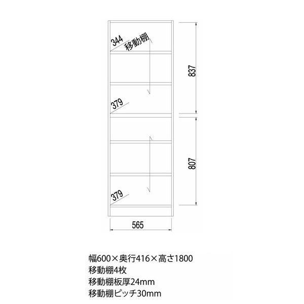 白井産業 壁面収納キャビネット Aタイプ 幅600mm ナチュラル (直送品)