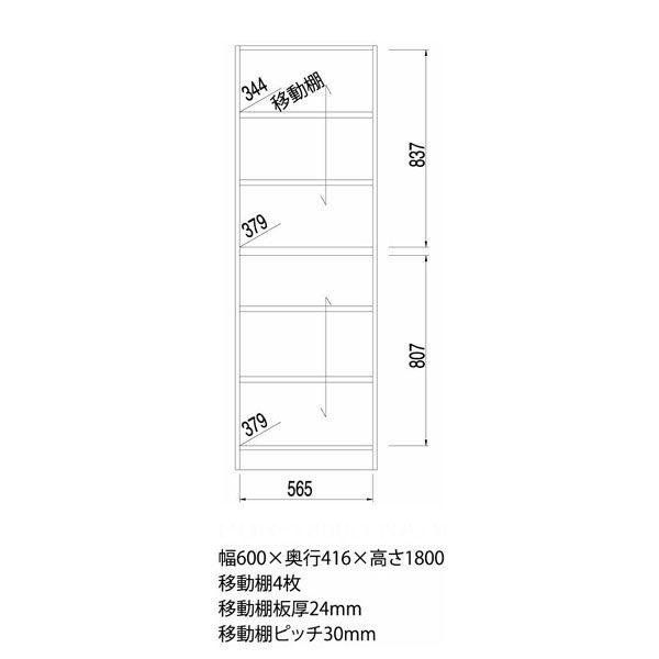 白井産業 壁面収納キャビネット Aタイプ 幅600mm タイプホワイト (直送品)