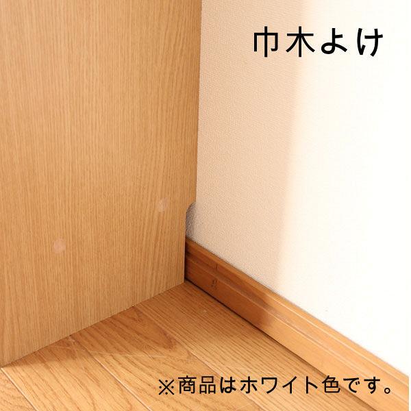 白井産業 薄型壁面キャビネット 飾り棚タイプ ホワイト 1台 (直送品)