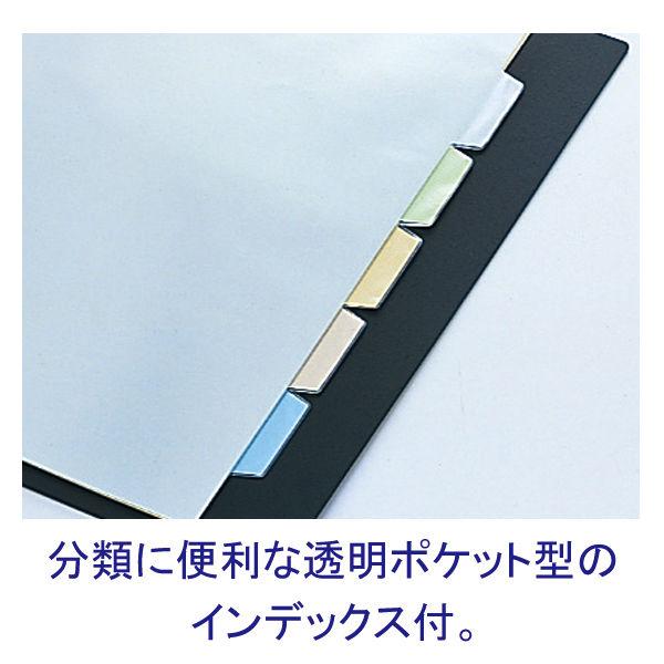 キングジム クリアファイル 差し替え式 5冊 A4タテ背幅25mm カラーベース 5色アソート 139