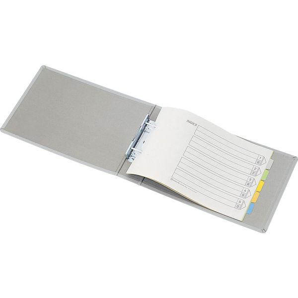 キングジム キングファイルG(2穴) A4ヨコ とじ厚50mm グレー 985N 1セット(3冊)