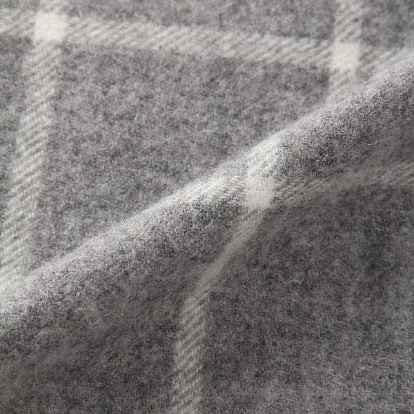 無印 ウール織り柄マフラー 30×180