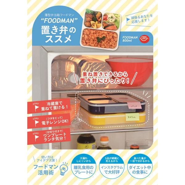 薄型弁当箱フードマン800ml ネイビー