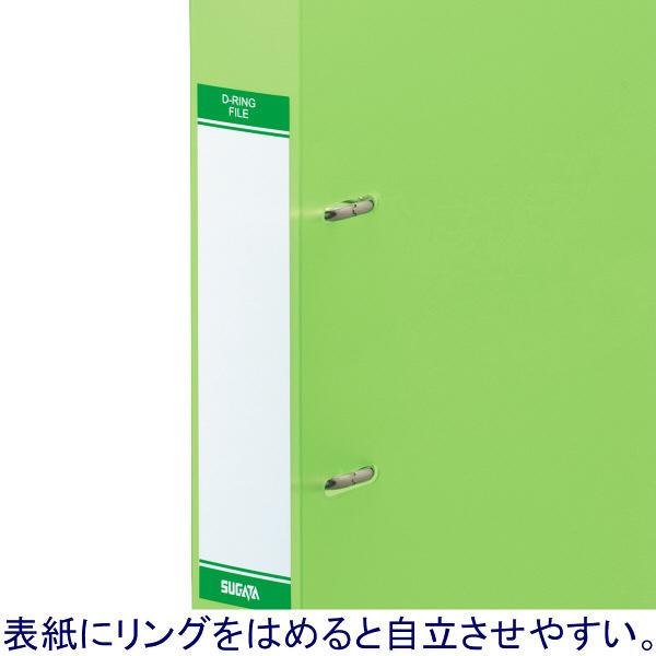 リングファイルD型2穴 A4タテ 背幅41mm ハピラ カラバリ 緑