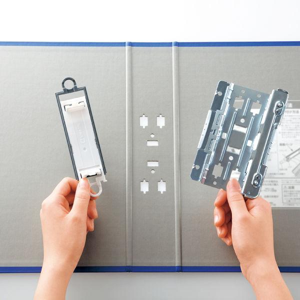 キングファイル スーパードッチ 脱着イージー A3ヨコ とじ厚30mm 青 キングジム 両開きパイプファイル 3403EAアオ
