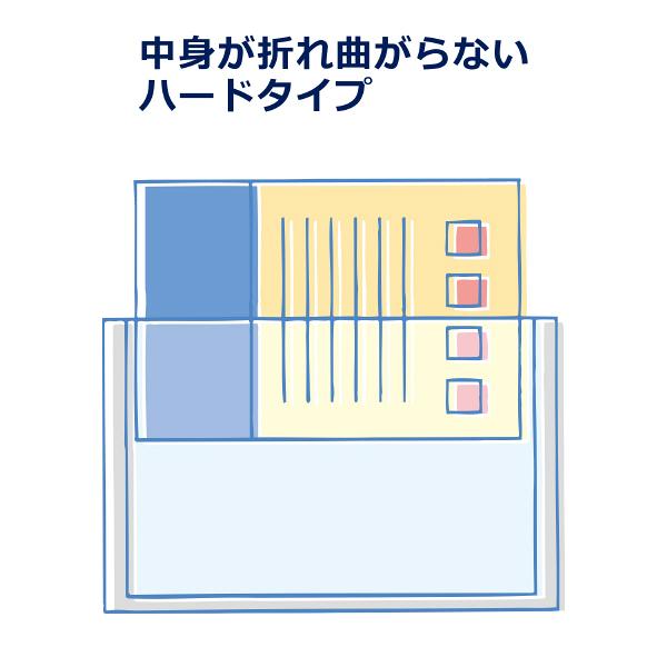 プラス カードケース ハードタイプ(再生PET仕様) B8 67×94 34475