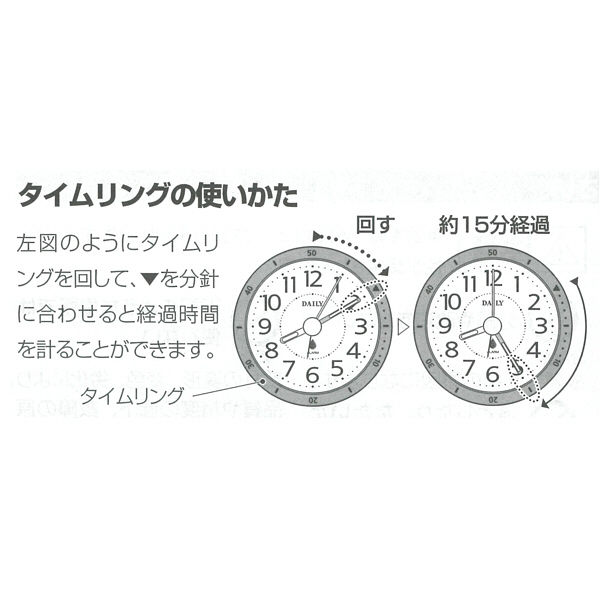 アクアパークミニ 置掛両用時計防雨タイプ