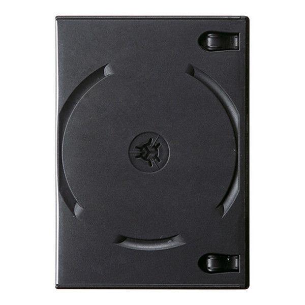 サンワサプライ DVDトールケース(12枚収納) ブラック DVD-TW12-03BK 1セット(3枚入り) (直送品)
