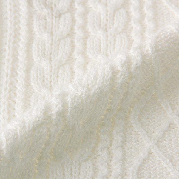 無印 ケーブル柄セーター 婦人 L 白