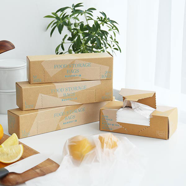 食品保存袋 Lマチ付 半透明 150枚入