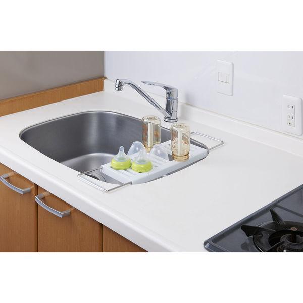 キッチン水切りラック 伸縮タイプ