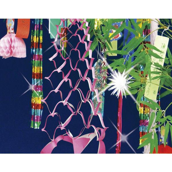 ササガワ 七夕飾り 折切子 46-6252 25枚(5色各1枚袋入×5冊袋入) (取寄品)